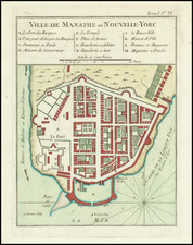 New York City Map By Jacques Nicolas Bellin