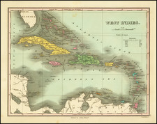 Caribbean Map By Anthony Finley