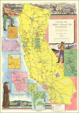 Pictorial Maps and California Map By Automobile Club of Southern California