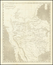 United States, Texas, Plains, Southwest, Rocky Mountains and California Map By Aaron Arrowsmith  &  Lewis