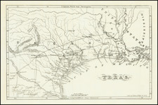 Texas Map By Chester Newell
