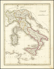 Italy Map By Thomas Gamaliel Bradford
