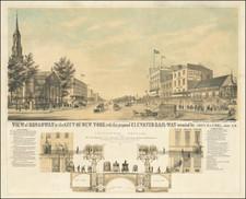 New York City Map By Robert J. Rayner / John Randel Jr.