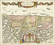 Holy Land Map By Frederick De Wit