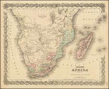 South Africa Map By G.W.  & C.B. Colton