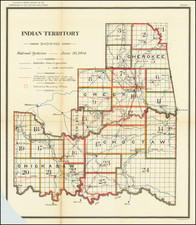 Indian Territory Showing Railroad Systems -- June 30, 1904 By United States Department of the Interior