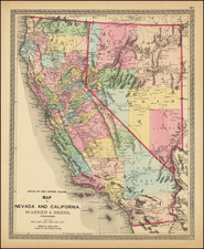Nevada and California Map By H.H. Lloyd