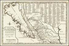 Baja California, California and California as an Island Map By Nicolas de Fer