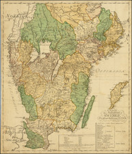 Sweden Map By Nils Marelius