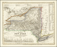 New York State Map By Joseph Meyer