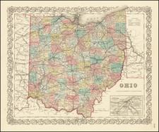 Ohio By Joseph Hutchins Colton