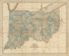 Midwest, Indiana and Ohio Map By Henry Schenk Tanner