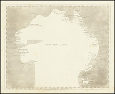 Australia Map By Aaron Arrowsmith  &  Samuel Lewis