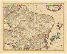 China, Japan, Central Asia & Caucasus and Russia in Asia Map By Frederick De Wit