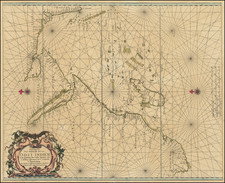 India, Middle East, Arabian Peninsula, Africa, South Africa, East Africa and African Islands, including Madagascar Map By Jacob and Caspar Lootsman (Jacobsz)