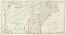 South, Louisiana, Alabama, Mississippi, Tennessee, Georgia, North Carolina and South Carolina Map By Jedidiah Morse / Abraham Bradley