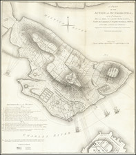 New England, Massachusetts and Boston Map By Charles Stedman / William Faden