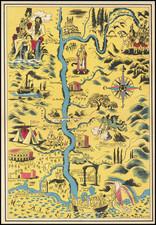 Pictorial Maps and Sud et Alpes Française Map By Lucien Boucher