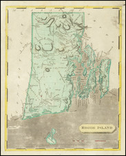 Rhode Island Map By Aaron Arrowsmith  &  Samuel Lewis