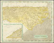 North Carolina Map By Aaron Arrowsmith  &  Lewis