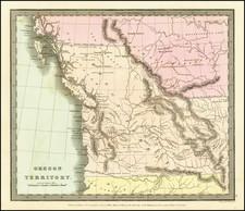 Idaho, Pacific Northwest, Oregon and Washington Map By David Hugh Burr