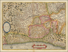 Pedemontanae Vicinorumque Regionum Auctore Iacobo Castaldo Descrip. By Abraham Ortelius