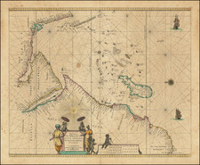 India, Other Islands, Middle East, East Africa and African Islands, including Madagascar Map By Pieter Goos