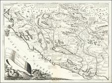 Croatia & Slovenia, Bosnia & Herzegovina, Serbia and Albania, Kosovo, Macedonia Map By Vincenzo Maria Coronelli
