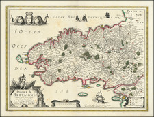 France Map By Henricus Hondius / Melchior Tavernier