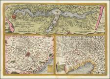 Larii Lacus Vulgo Comensis Descriptio . . . [and] Terretorii Romani Descrip. [and] Fori Iulii Vulgo Frivli Typus By Abraham Ortelius