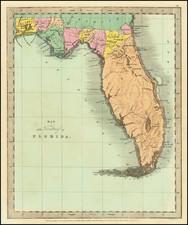 Florida Map By David Hugh Burr
