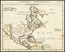 North America and California as an Island Map By Anonymous
