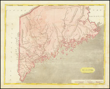 Maine Map By Aaron Arrowsmith  &  Samuel Lewis