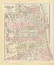 Chicago Map By O.W. Gray