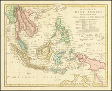 Philippines, Indonesia, Malaysia and Thailand, Cambodia, Vietnam Map By Robert Wilkinson