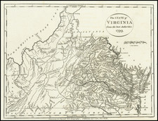Virginia Map By John Payne