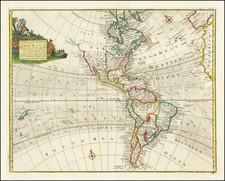 America Map By Emanuel Bowen