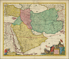 Central Asia & Caucasus, Middle East and Arabian Peninsula Map By Jan Barend Elwe