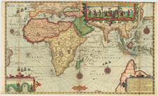 World, Indian Ocean, Southeast Asia and Australia Map By Cornelis Claesz