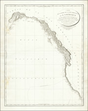 Pacific Northwest, Alaska, California and Canada Map By George Vancouver