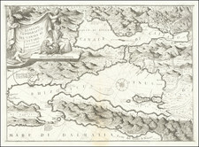 Balkans Map By Vincenzo Maria Coronelli