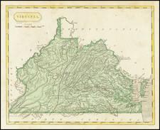 Virginia Map By Aaron Arrowsmith  &  Lewis