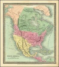 North America Map By David Hugh Burr