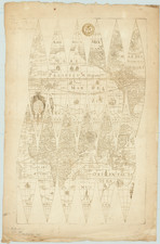 World, Virginia and Globes & Instruments Map By Jodocus Hondius II