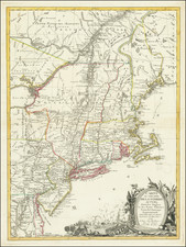 United States, New England, Mid-Atlantic and American Revolution Map By J.B. Eliot / Louis Joseph Mondhare