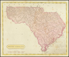 South Carolina Map By Aaron Arrowsmith  &  Lewis