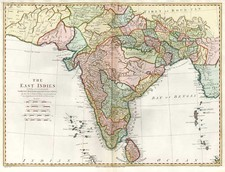 Asia, India and Central Asia & Caucasus Map By John Blair