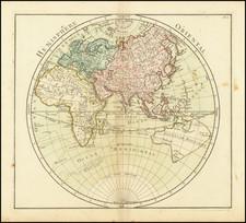 World, Eastern Hemisphere, Australia and Oceania Map By Louis Brion de la Tour