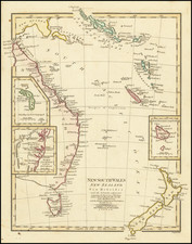 Australia, Oceania, New Zealand and Other Pacific Islands Map By Robert Wilkinson