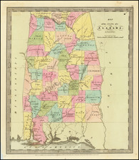 Map of the State of Alabama. By David Burr By David Hugh Burr